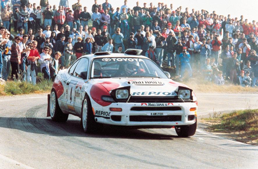 Carlos Sainz compitiendo en asfalto en 1992