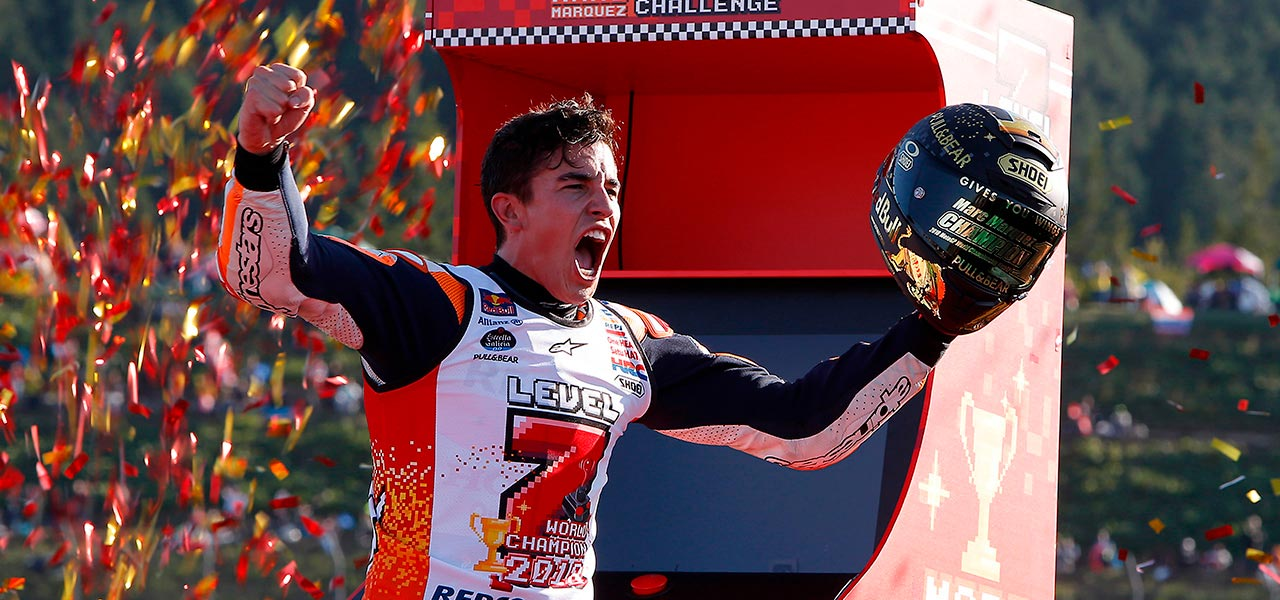 Marc Márquez clinches title with victory in Japan