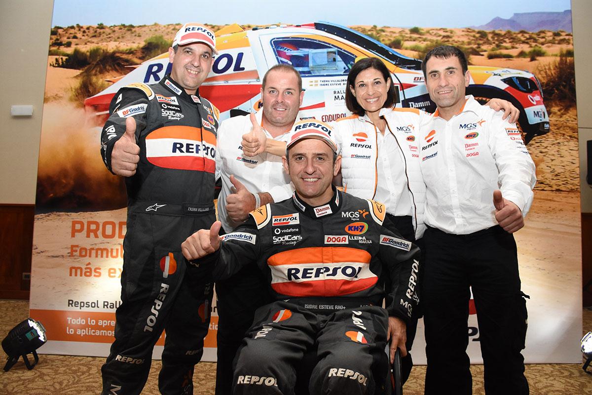 Equipo Repsol Rally Team al completo Dakar 2019