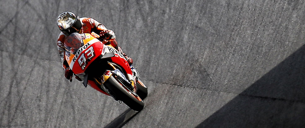 Positive first day for Marquez and Pedrosa