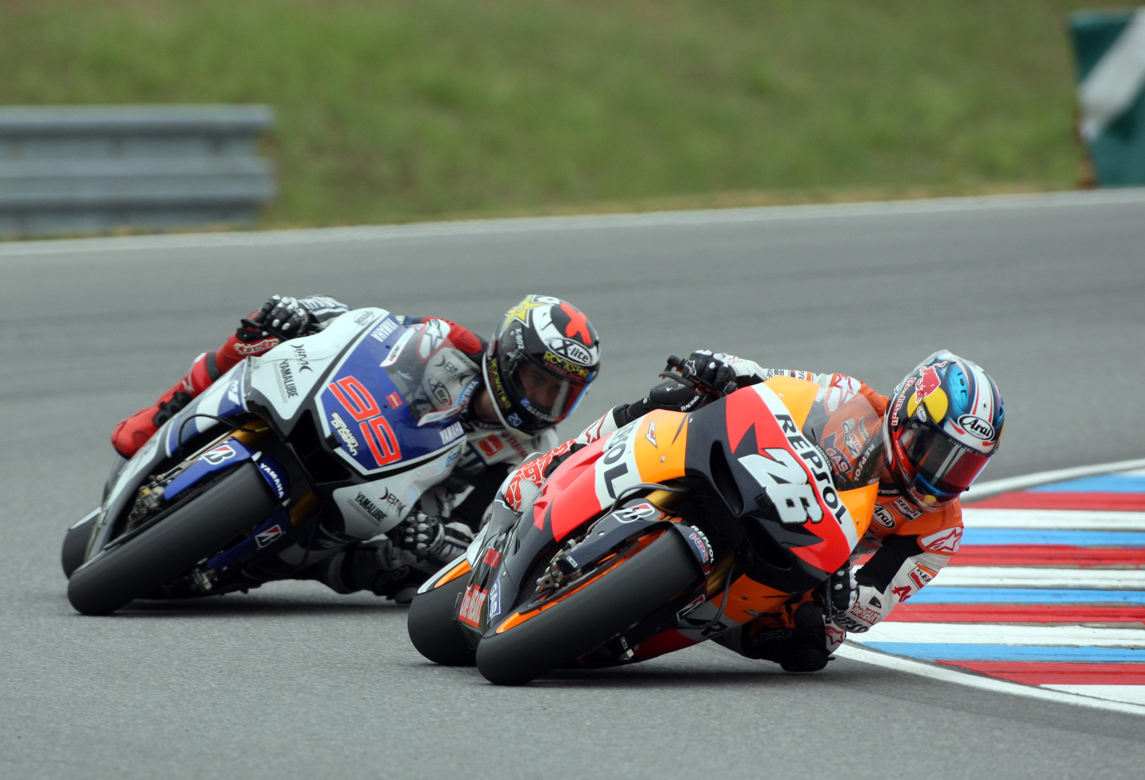 Dani Pedrosa y Jorge Lorenzo en Brno
