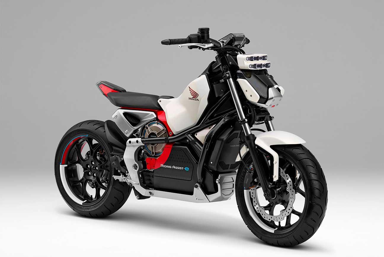 La moto prototipo Honda Riding Assist-e