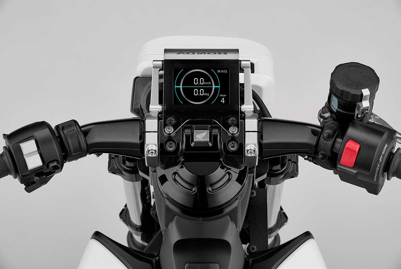 Cuadro de mandos del prototipo Honda Riding Assist-e