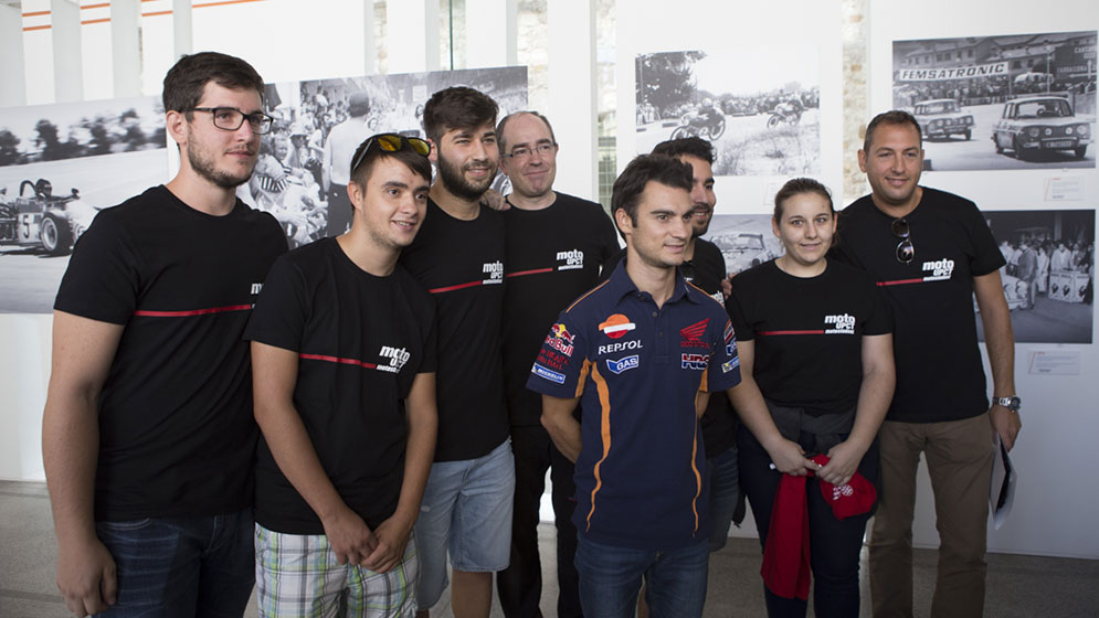"Dani Pedrosa at the ""Motorsport Legends""  Cartagena Expo"