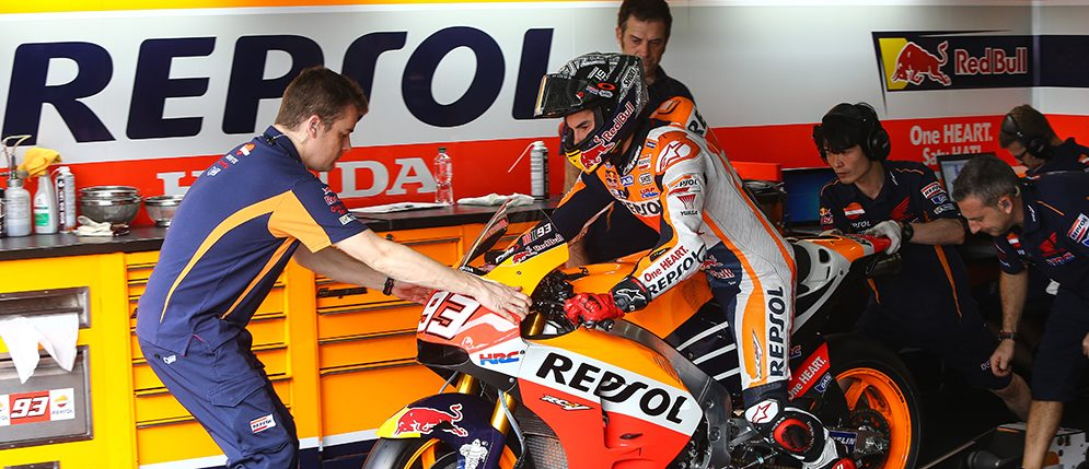 The Repsol Honda Team continues to work in Sepang