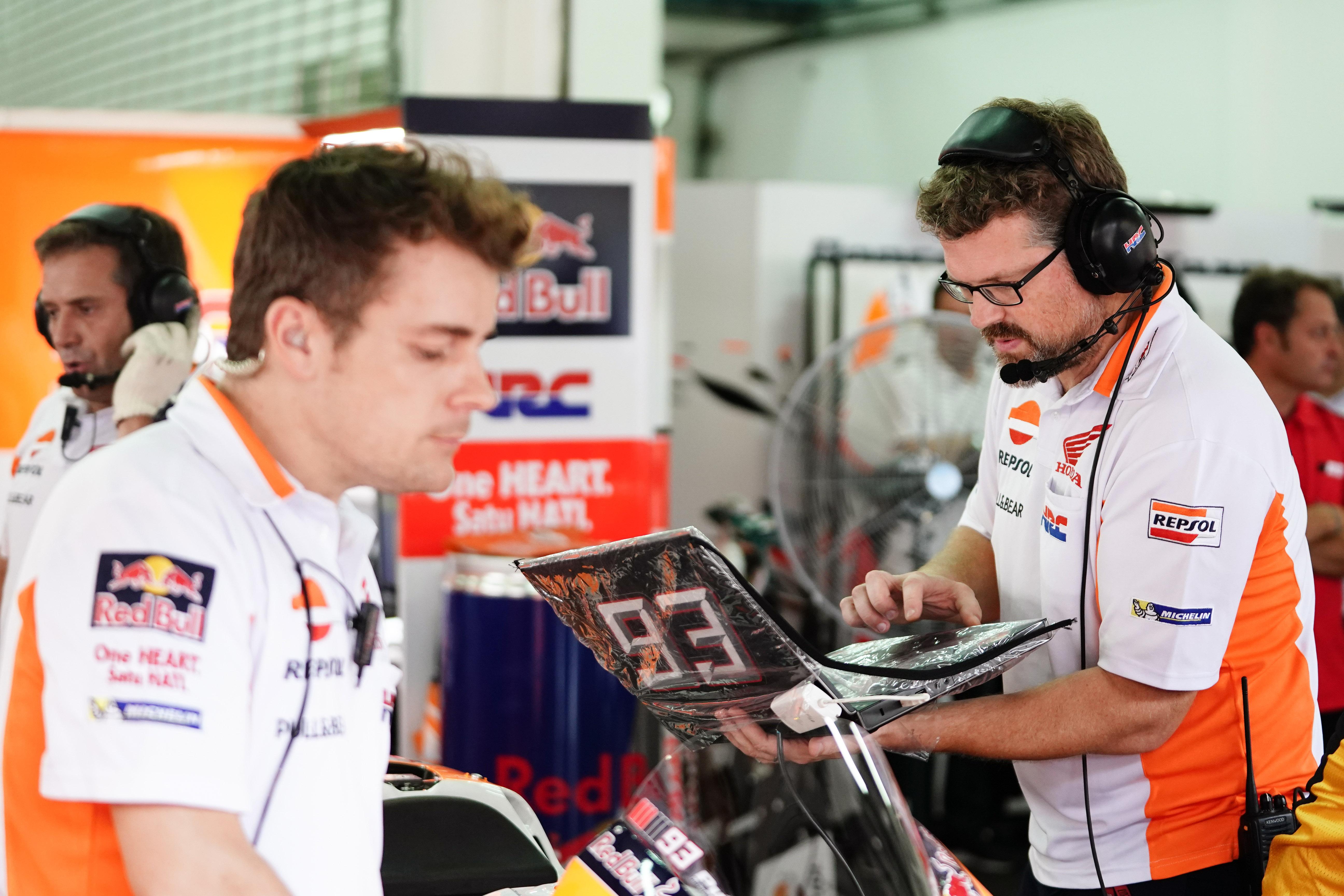 Electrónica en el box, MotoGP