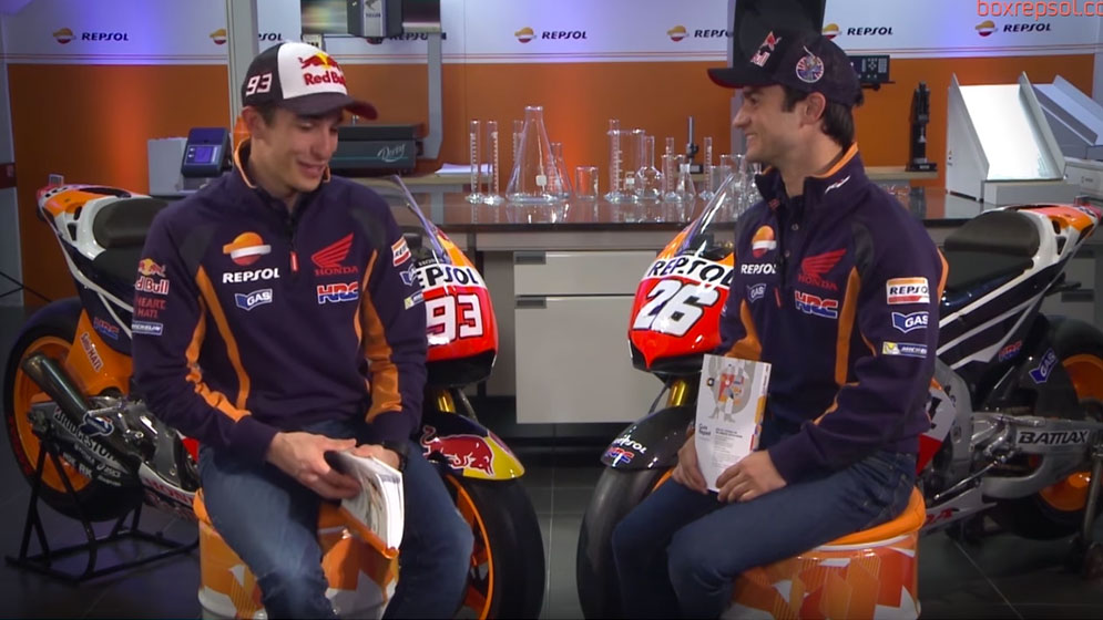 Tons of fun with Marc Márquez and Dani Pedrosa