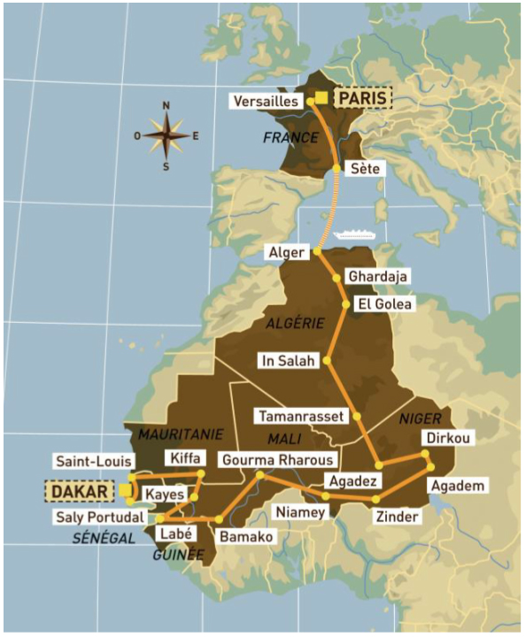 Recorrido Dakar 1986