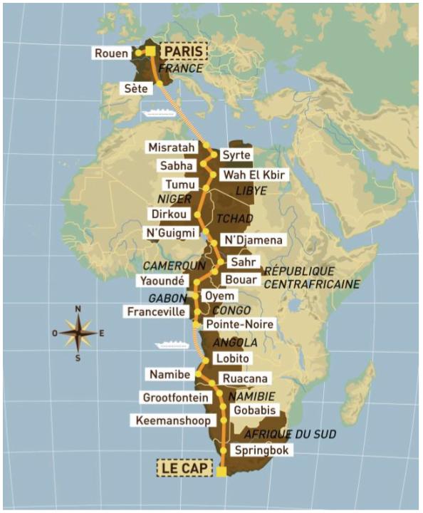 Recorrido Dakar 1992