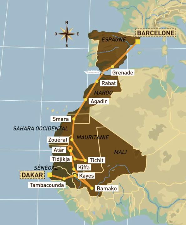 Recorrido Dakar 2005