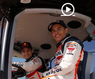 Marc Márquez y Dani Pedrosa, ganadores del primer 'TractorGP'