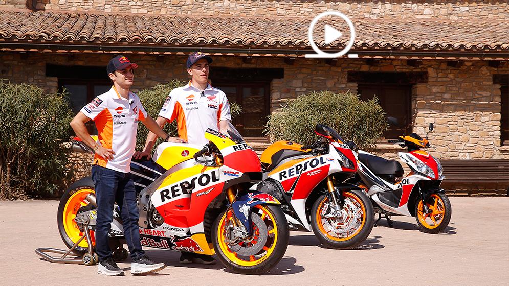 La Honda de Márquez y Pedrosa, del circuito a la calle