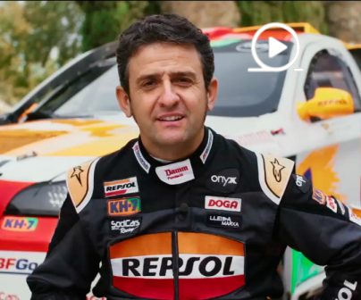 Isidre Esteve & Repsol lubricants, go to the Dakar