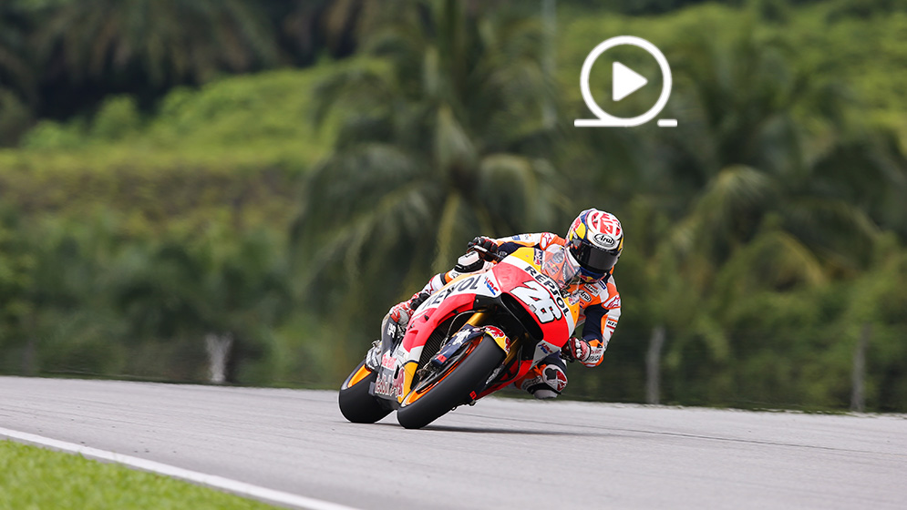 Marc Márquez and Dani Pedrosa, in Malaysia. Sepang Test 2018