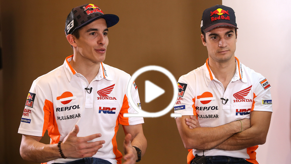 Marc Márquez and Dani Pedrosa have fun in Jakarta