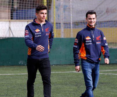 Marc y Dani en el futbol