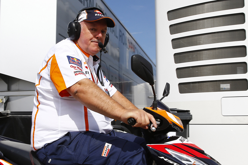 Roger Van Der Borght, the coordinator behind the Repsol Honda Team