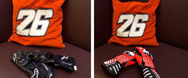 A la derecha, los guantes de seco son más duros pero menos ligeros