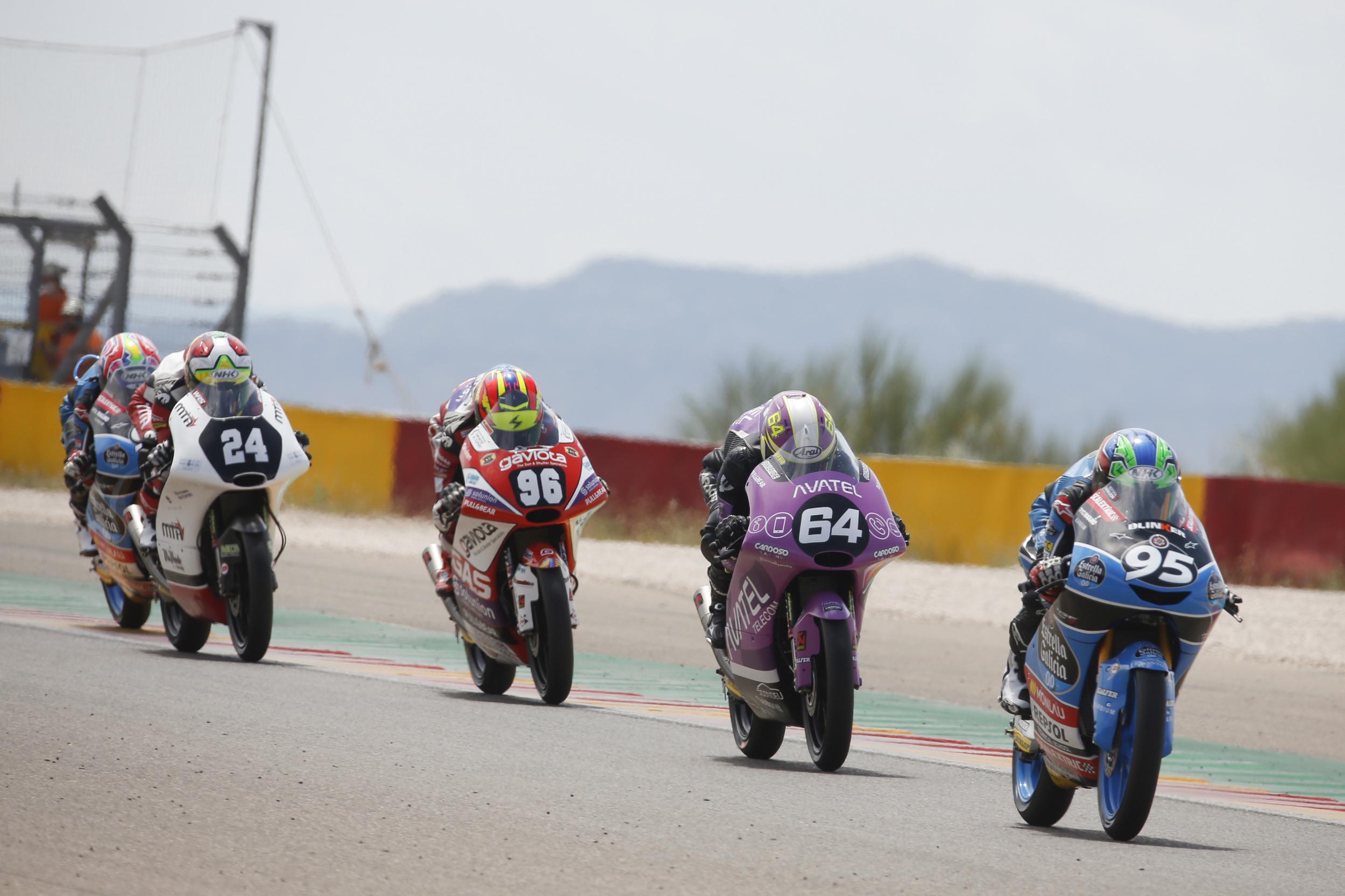 Moto3 Junior FIM CEV Repsol - Motorland Aragón - José Antonio Rueda, David Muñoz, Daniel Holgado, Iván Ortolá