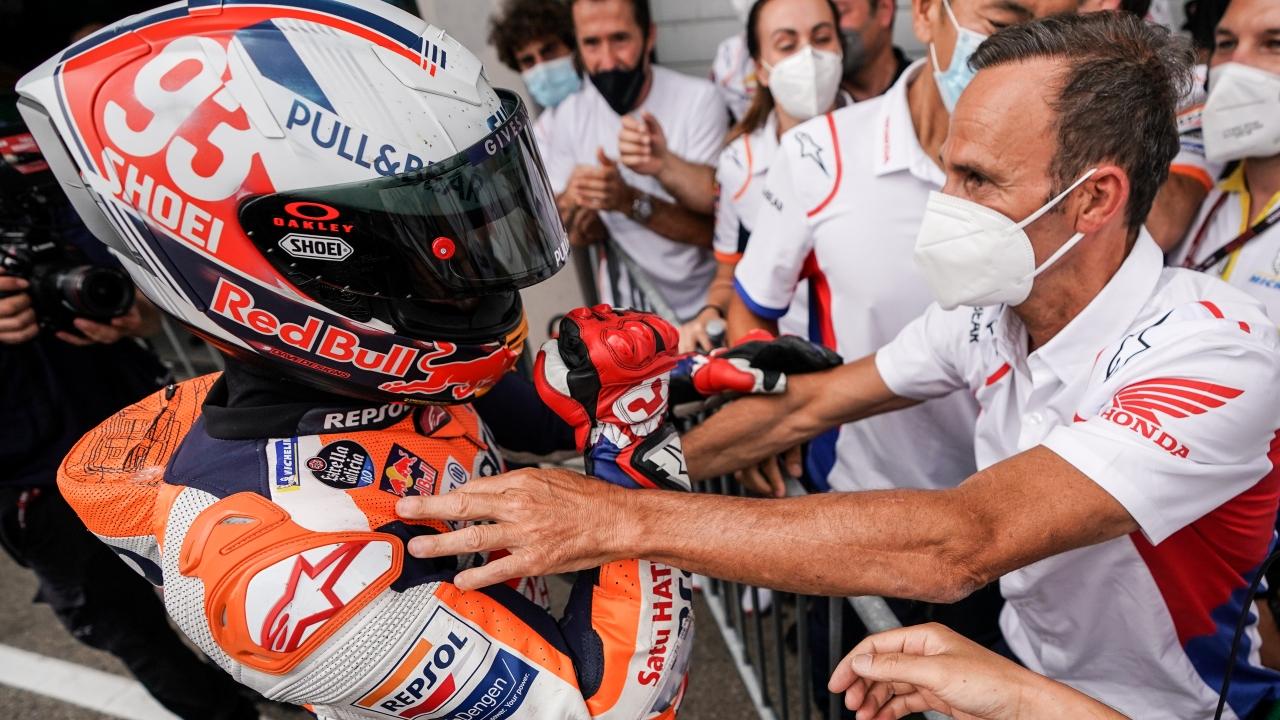 """Alberto Puig: """"Es un día especial, un día para agradecer a todos, especialmente a Marc"""""""""""