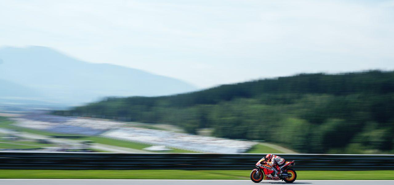 El equipo Repsol Honda finaliza satisfactoriamente el primer día en Spielberg