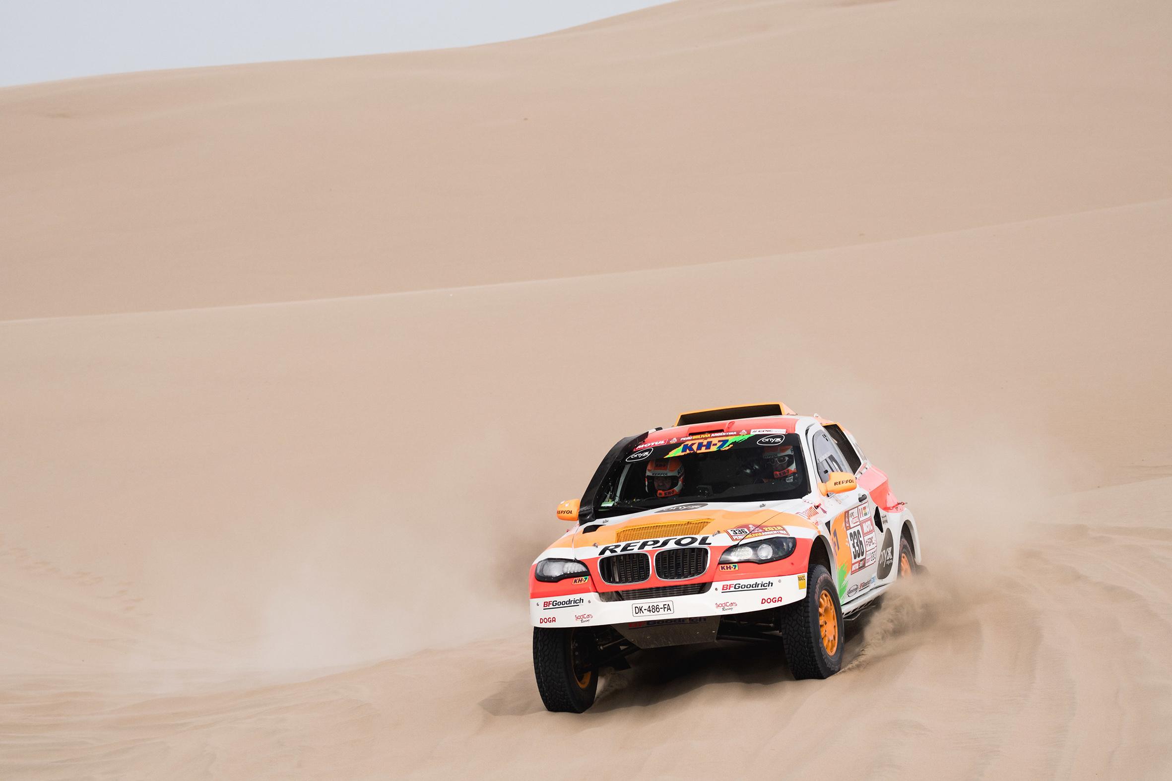 Isidre Esteve zona con dunas Dakar 2018