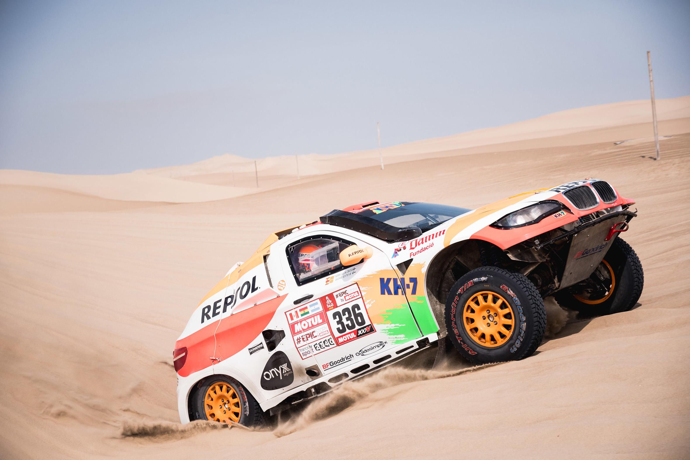 Isidre Esteve subiendo duna Dakar 2018