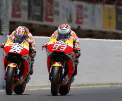 Podium double for Márquez and Pedrosa at home race