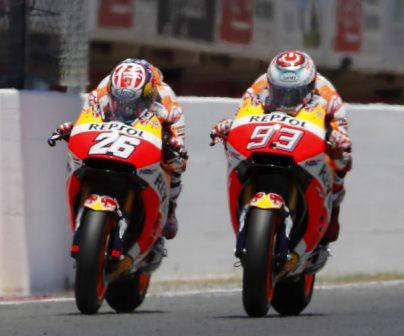 Doble podio de Marc Márquez y Dani Pedrosa 'en casa'