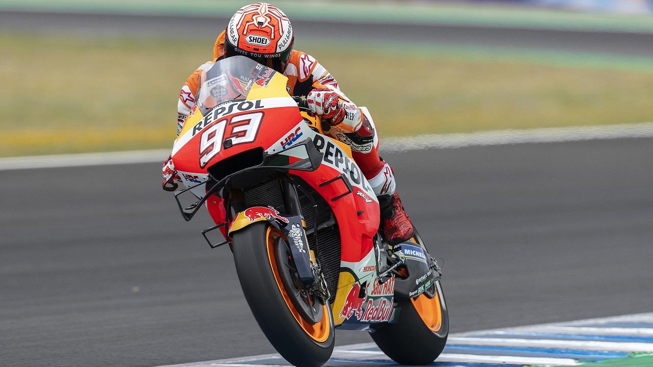 Marc Márquez finaliza su participación en el Gran Premio de Andalucía