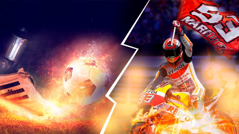 Y tú de qué eres más, ¿de fútbol o de motos?