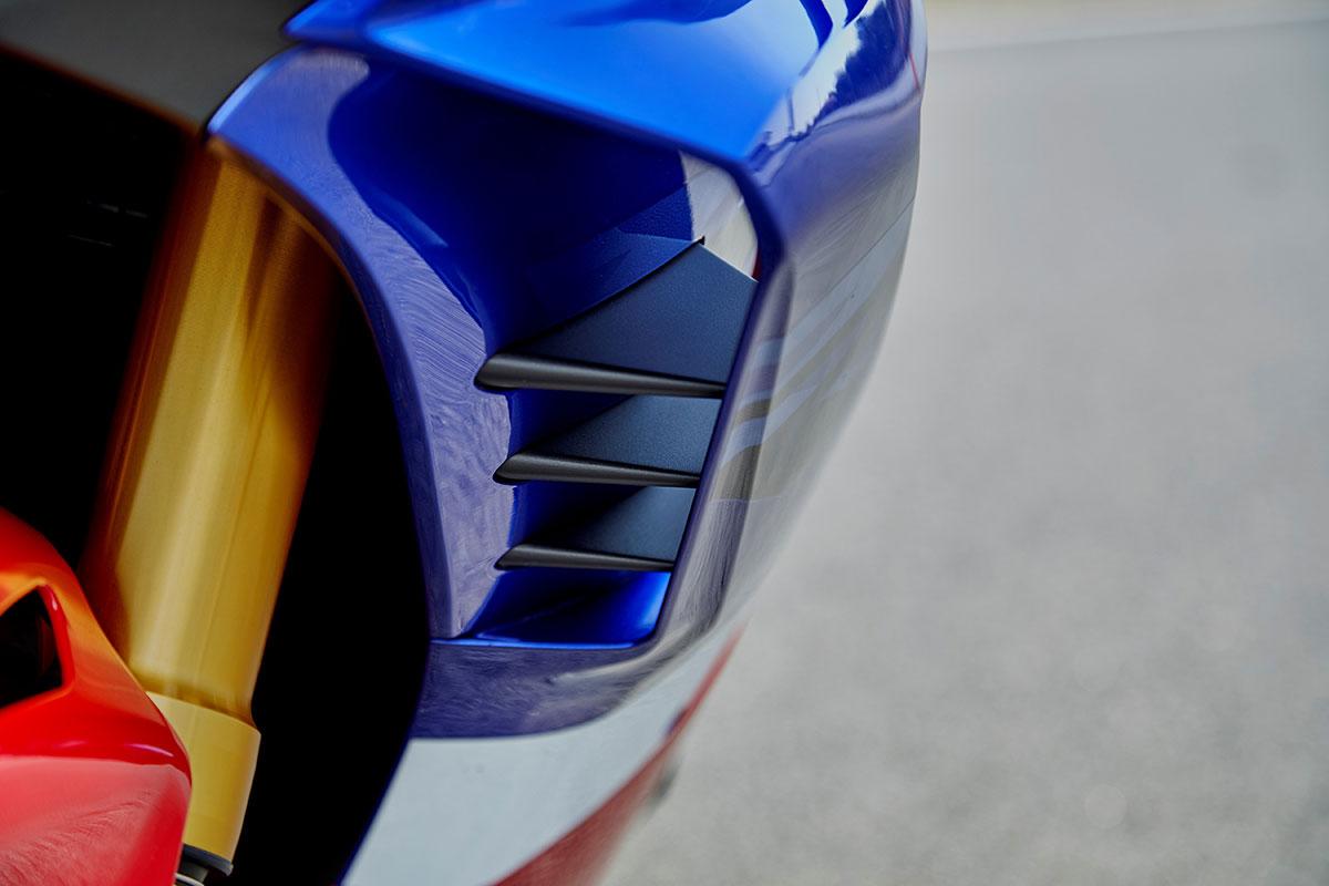 Aletines aerodinámicos en la Honda CBR 1000 RR-R Fireblade SP