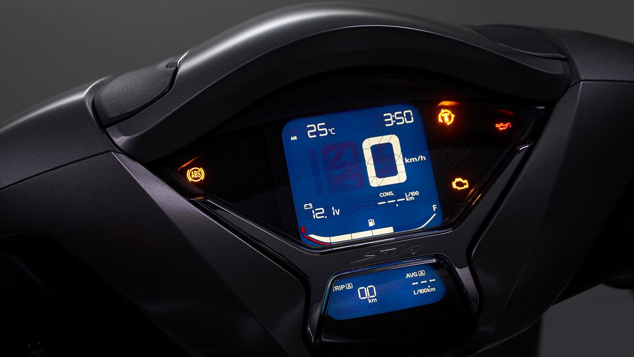 Panel de instrumentos de la Honda SH350i