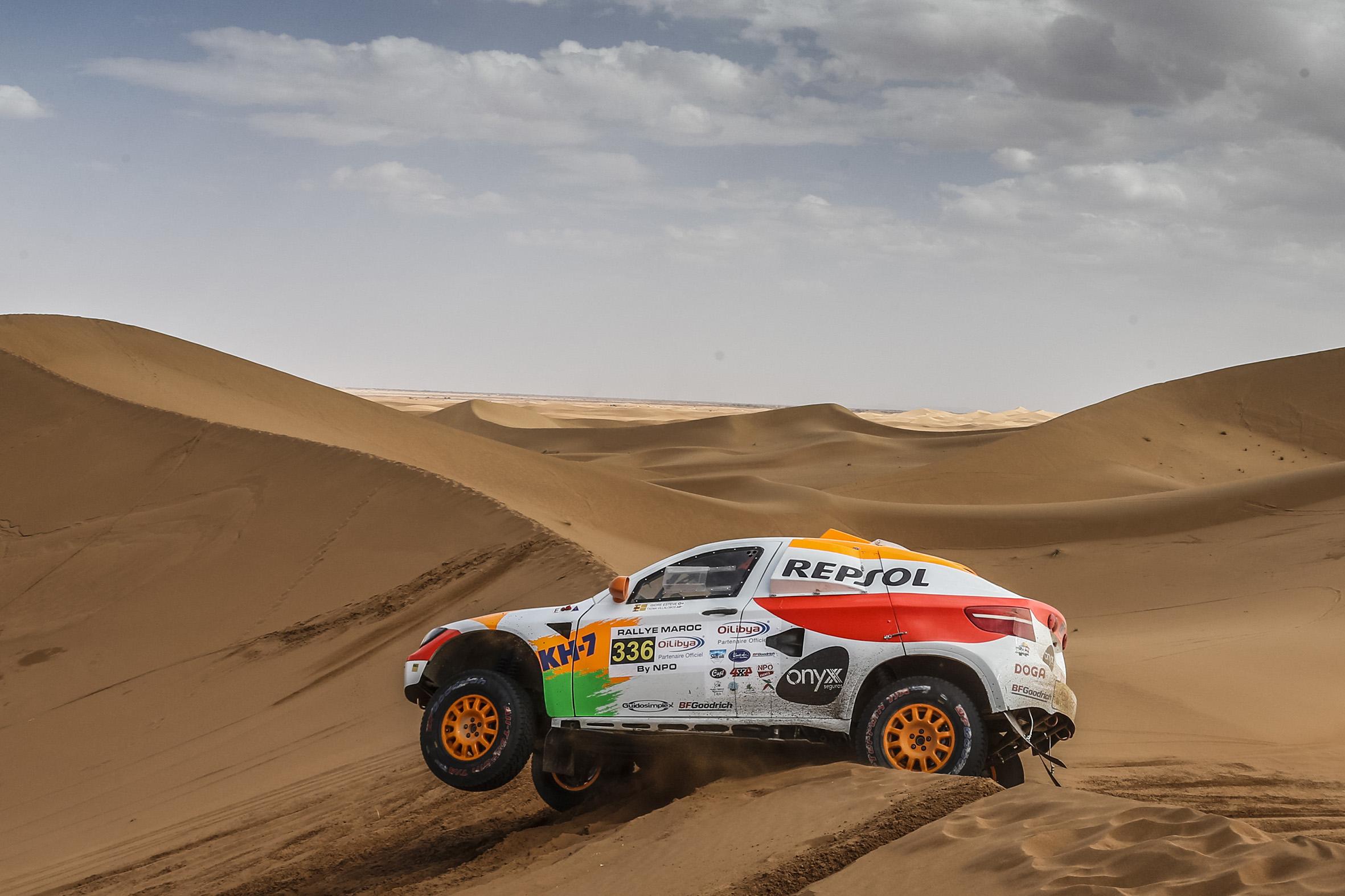 rally marruecos dunas