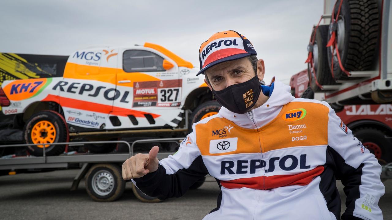 El Toyota Hilux Overdrive de Isidre Esteve pone rumbo al Dakar 2021