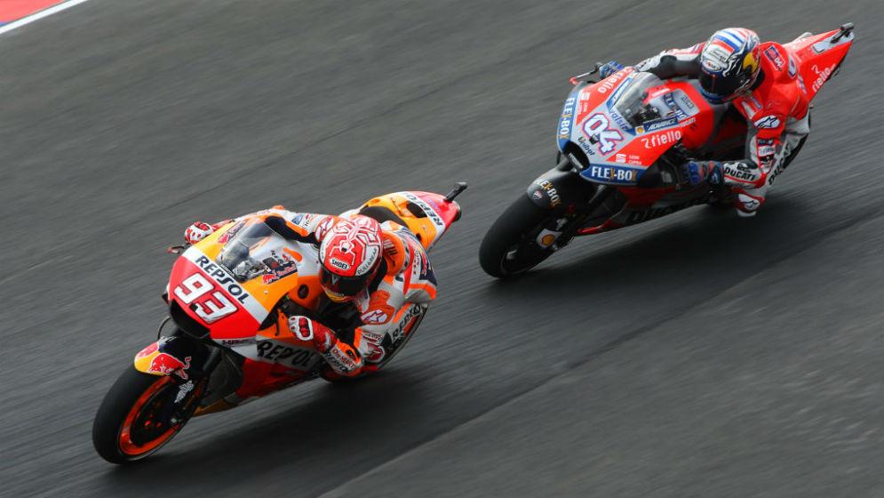 Márquez y Pedrosa lideran las dos sesiones del primer día en Argentina