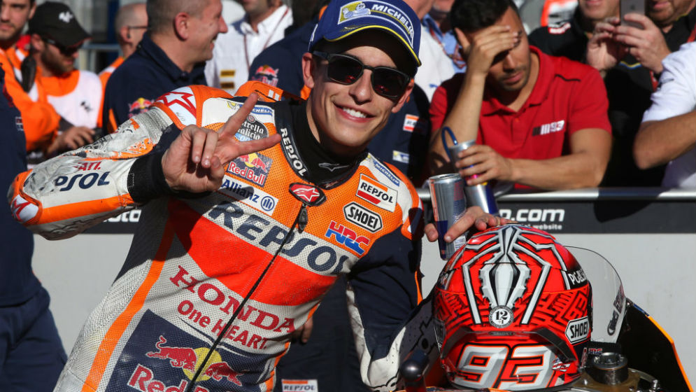 Marc Márquez to start from pole position at last race of the year