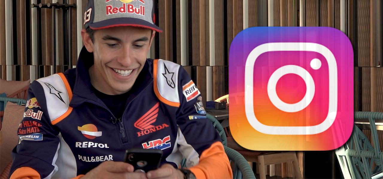Marc Márquez nos enseña su Instagram.