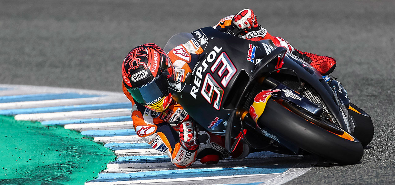 Marc Márquez second fastest at Jerez