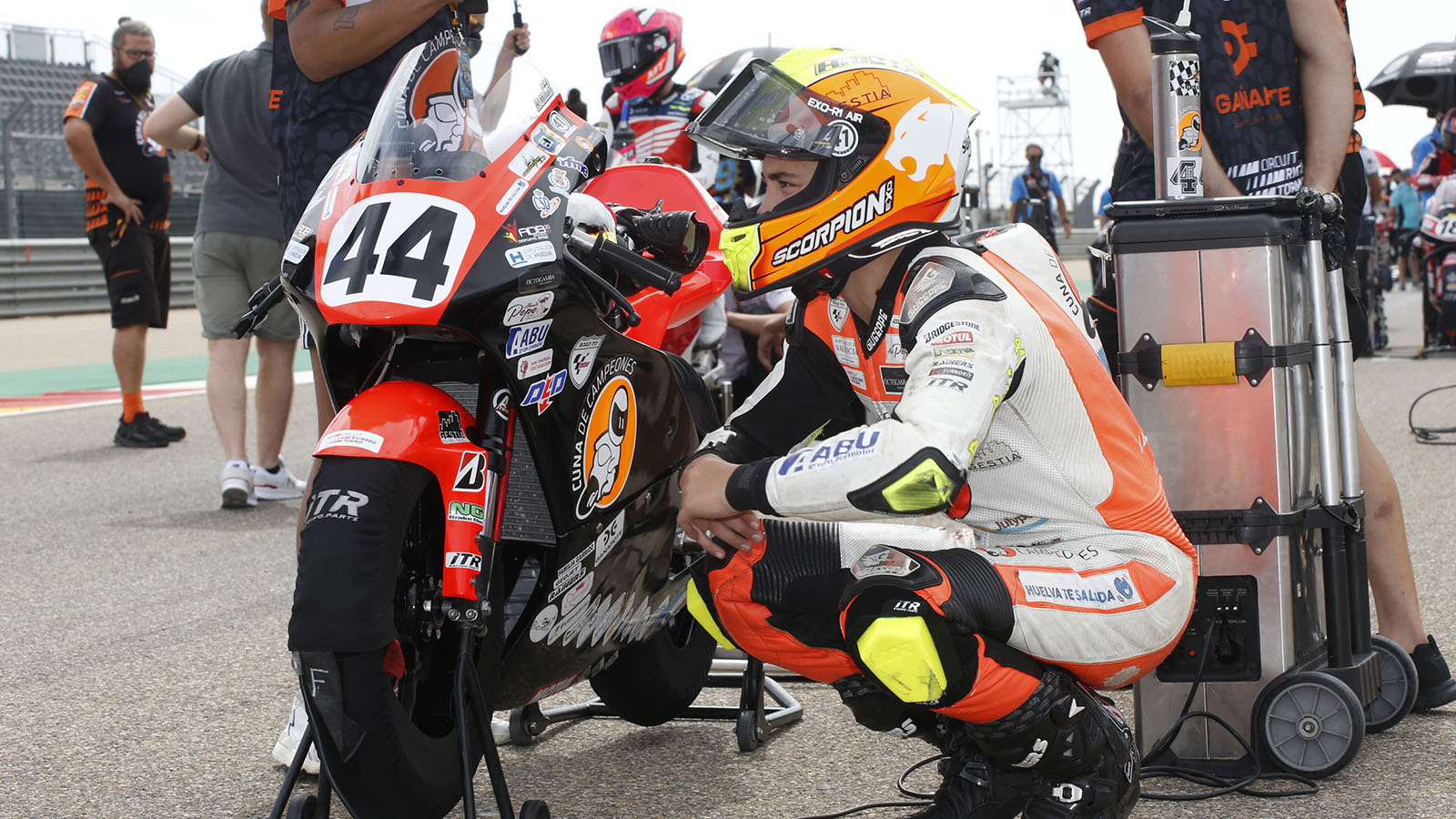 Motorcycle world mourns loss of Hugo Millán at MotorLand Aragón