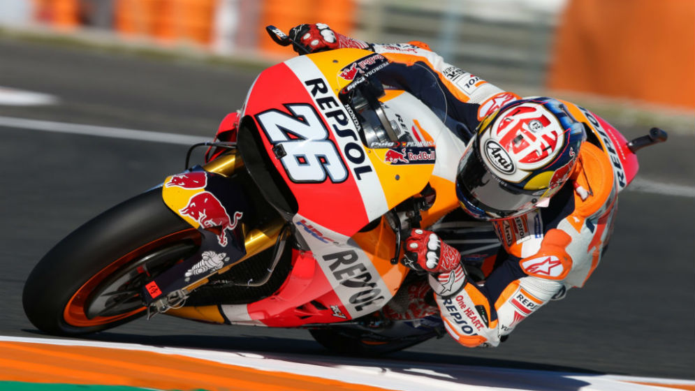 Pedrosa and Márquez place second and sixth, respectively, on day one