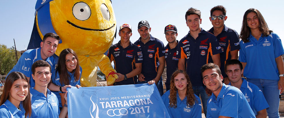 Repsol riders support 2017 Mediterranean Games in Tarragona