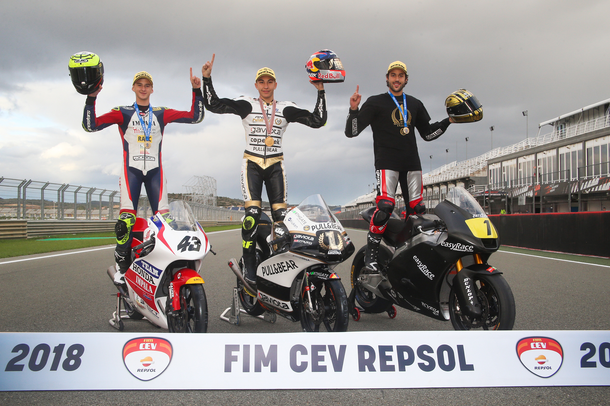 The FIM CEV Repsol 2018 lowers the curtain with crowns for Fernández and Artigas