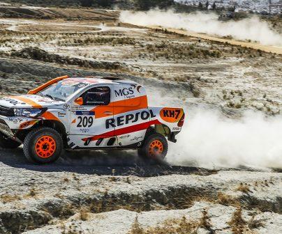 Isidre Esteve y Txema Villalobos en el Rally de Andalucía