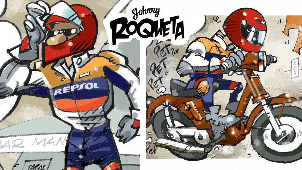 Hablamos con el 'padre' de Johnny Roqueta, el cómic más motero