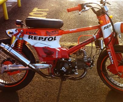 Repsol Honda c90 custom bike
