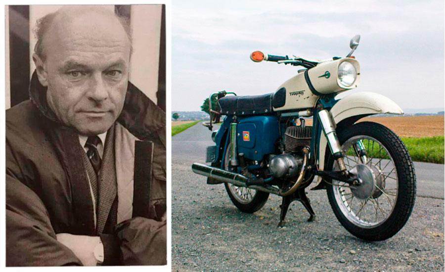 Walter-Kaaden-triumph-azul-y-blanca