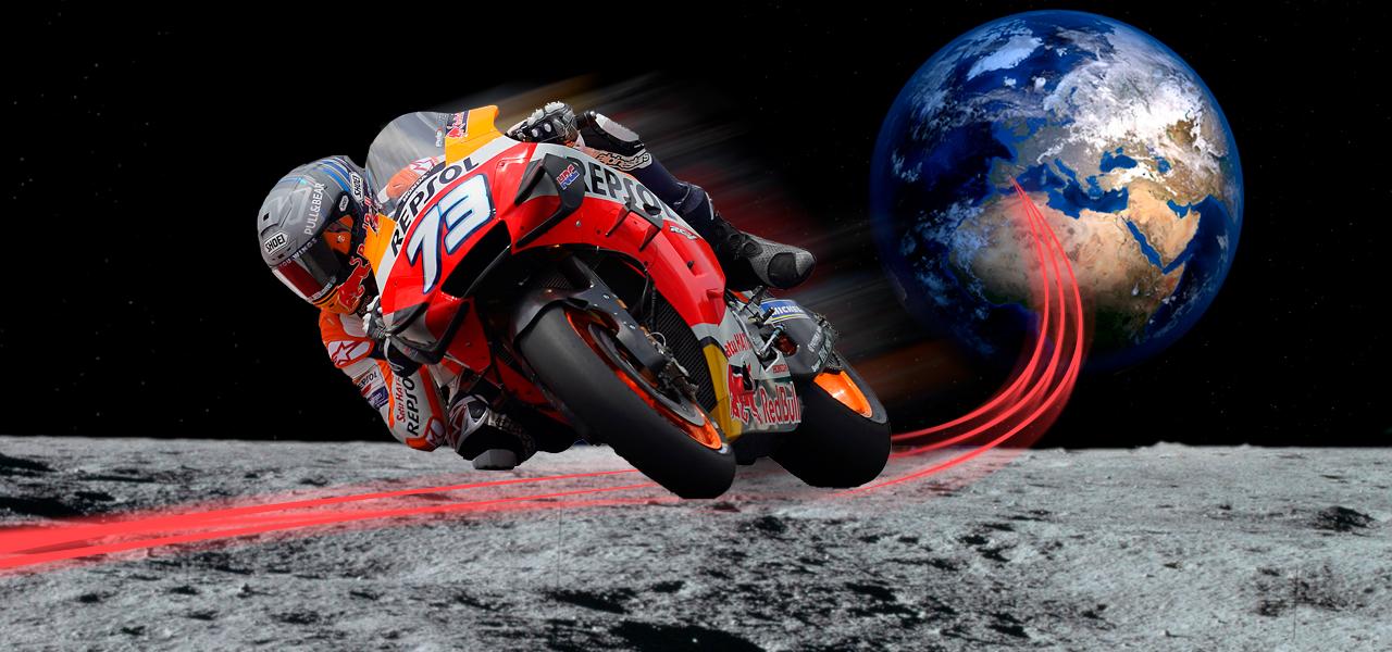¿Cuánto tardaría un piloto de MotoGP en ir de Cuenca a la Luna?