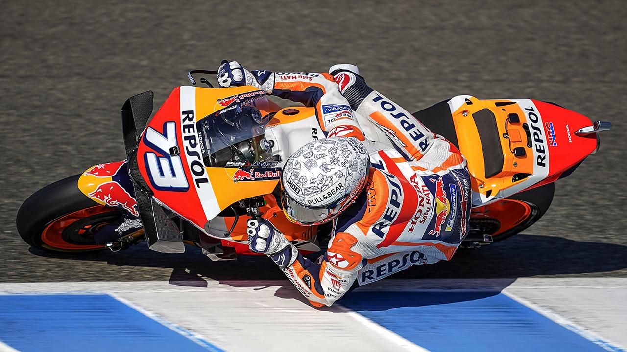 Álex Márquez en pista durante el GP de España 2020