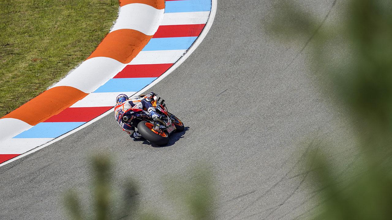 Álex Márquez rodando durante la carrera del GP de la República Checa 2020